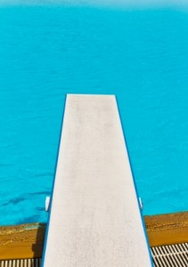 Springboard On Swimming Pool by tungphoto